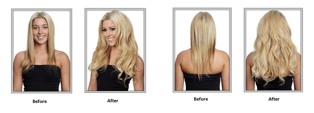 range of clipin hair extensions 16 inch 18 inch 20