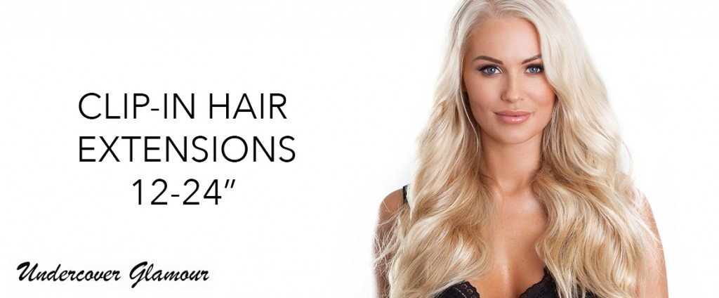 Clip in hair extensions in 12 inches to 24 inches