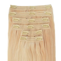 baby blonde human hair extensions, light blonde
