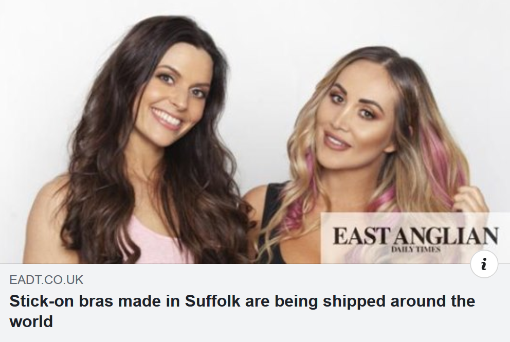 Catherine Peck and Lauryn Goodman in the East Anglian Daily Times