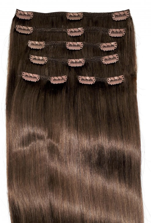 dark brown clipin hair extensions - Undercover Glamour