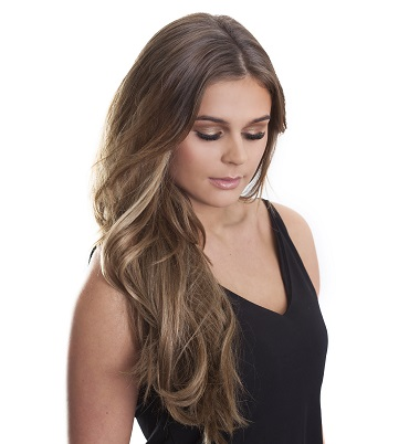 Beautiful, long balayage hair extensions