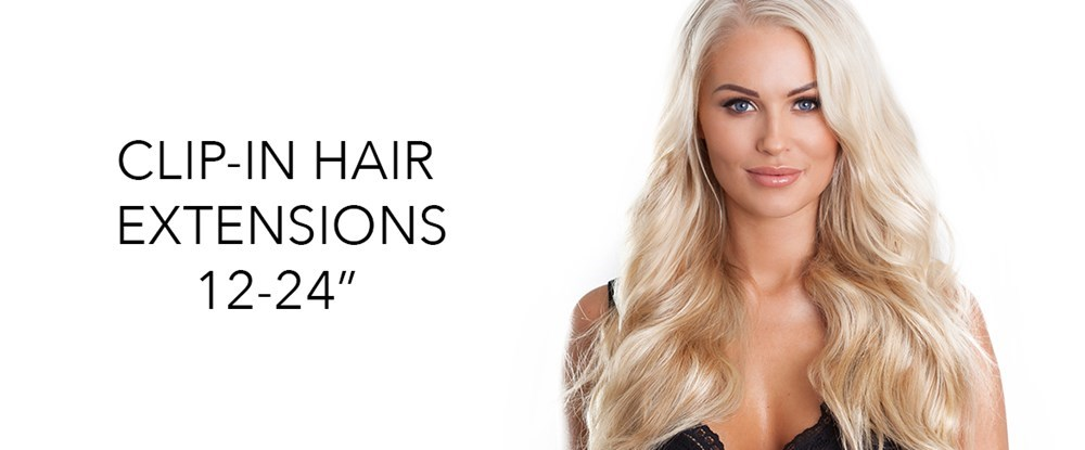 Clipin hair extensions 12 inches to 24 inches in length