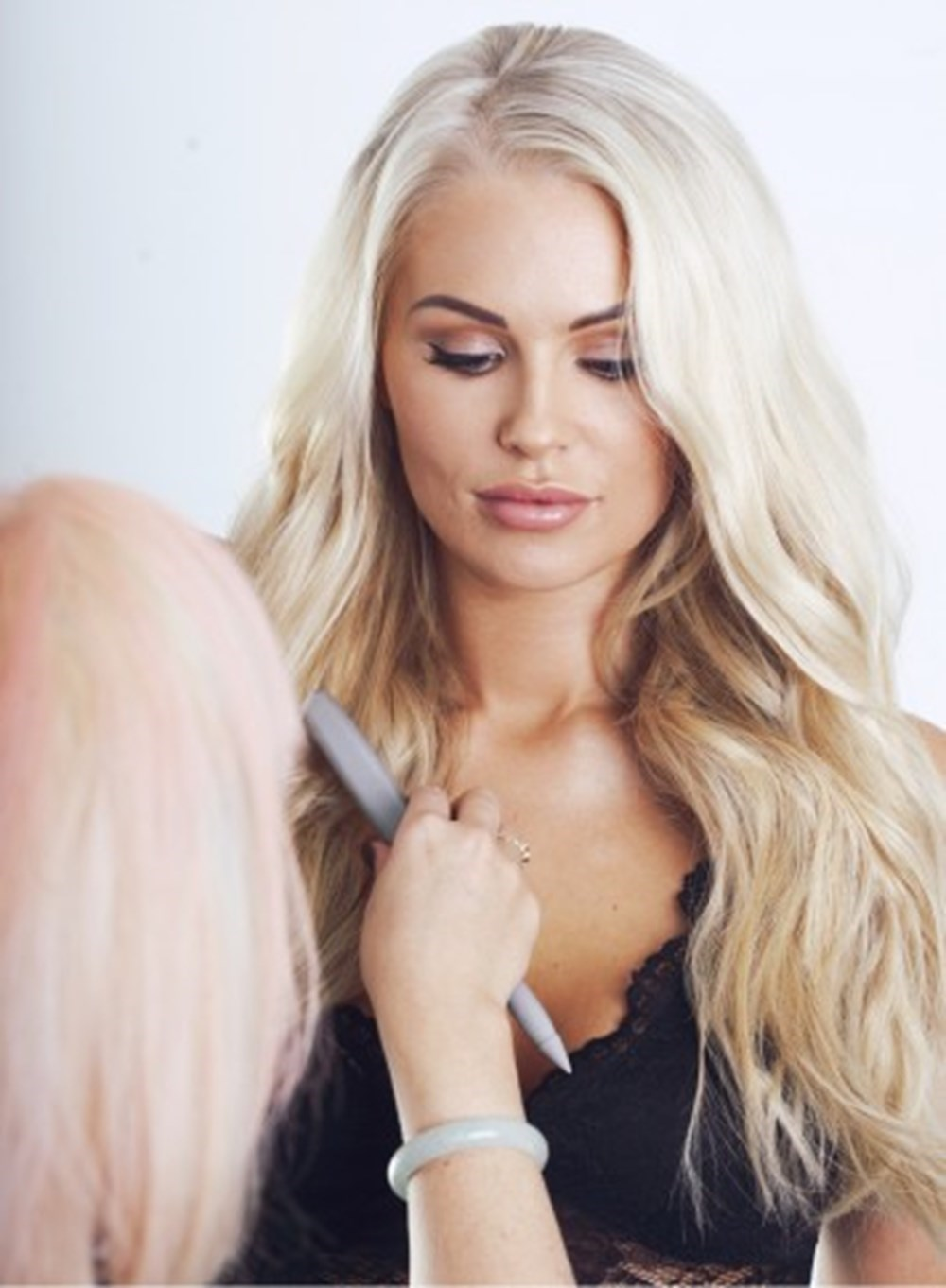 Model Isabelle Allan on Hair Extensions Photoshoot