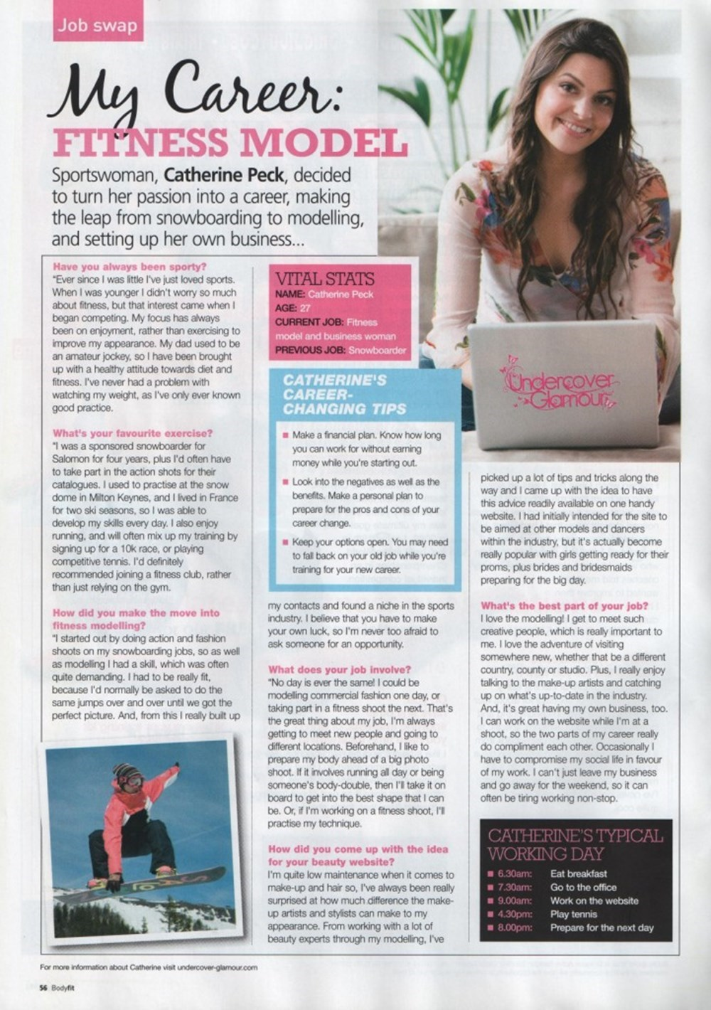 Catherine Peck Interview Modelling Career and Hair Extensions Bussiness Undercover Glamour