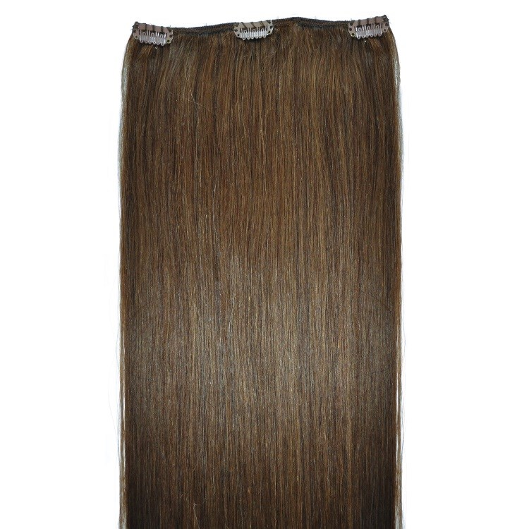 brown clip in hair piece