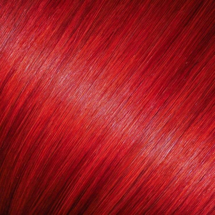 Bright Red Hair Full Head Clip In Hair Extensions