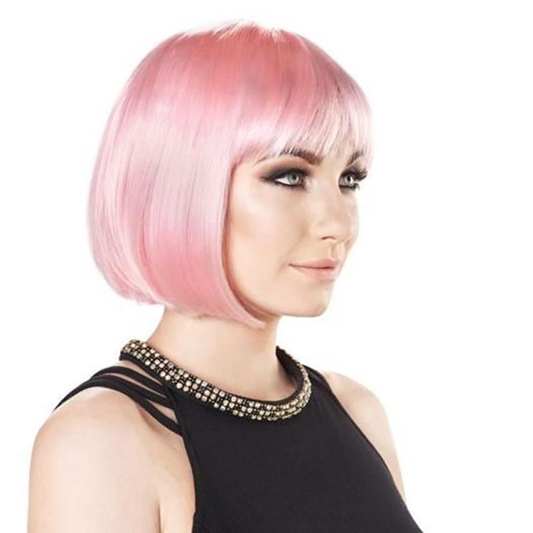 baby pink party wig