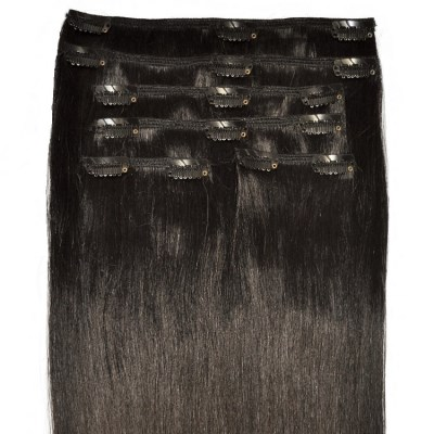 #1B Natural Black - Clip in Hair Extensions - Full Head