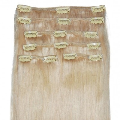 #22 Hollywood Light Blonde - Clip in Hair Extensions - Full Head