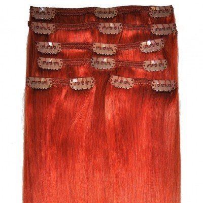 #350 Copper - Clip in Hair Extensions - Full Head