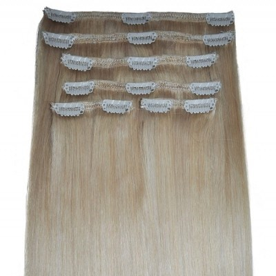 #60/22 Barbie Blonde Highlights - Clip in Hair Extensions - Full Head