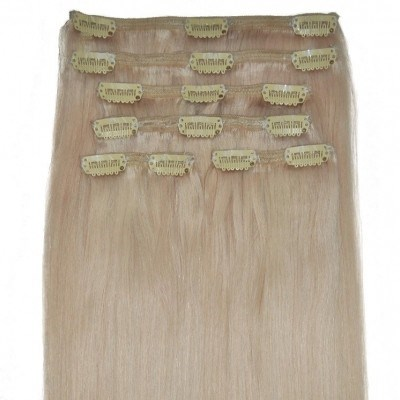 #60 Barbie Blonde - Clip in Hair Extensions - Full Head