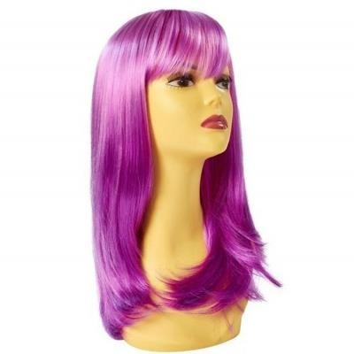 Party Wig - Long Wave - Twilight Purple