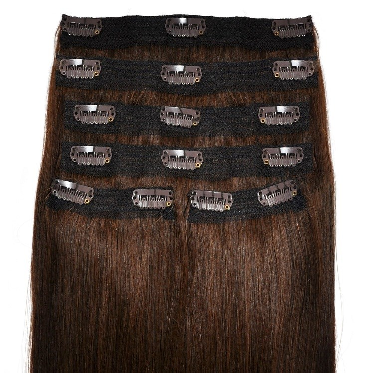 dark brunette quadweft hair extensions