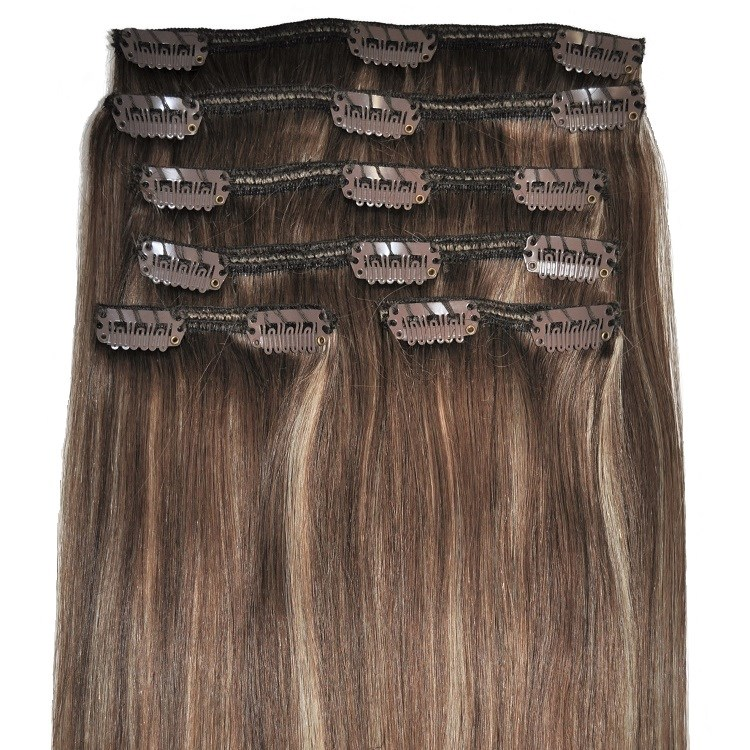 caramel clip in hair extensions