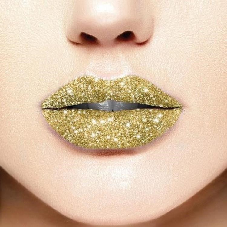 Golden Lip Glitter