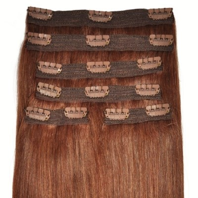 #33 Auburn - Clip in Hair Extensions - Full Head - DELUXE