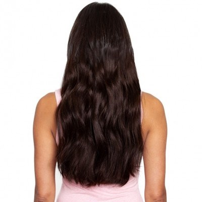 #2 Intense Dark Brunette - Clip in Hair Extensions - Full Head - DELUXE