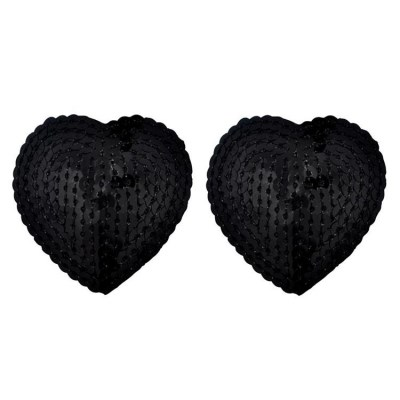 Black Sequin Nipple Covers