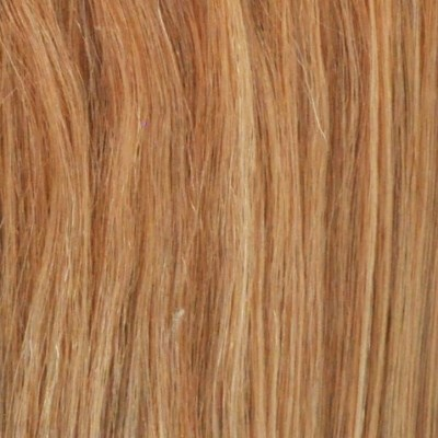 strawberry blonde single piece clip in human hair extensions